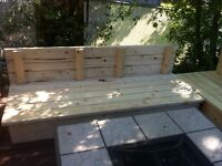 Patio lounging bench