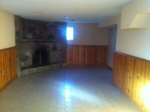 One bedroom ground level basement for rent