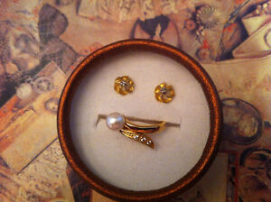 Earrings and ring size 6.