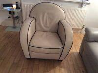 Natuzi leather arm chair