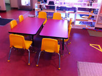 Daycare/School Furniture- Tables and Stackable Chairs- NEW PRICE