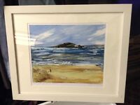 Limited edition Framed print of Burgh Island by Jane Vaux