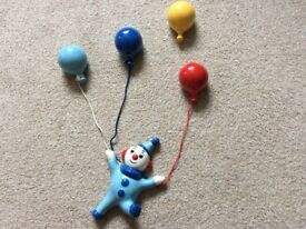 Clown & Balloons Ceramic Wall Art