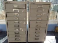 BISLEY 10 DRAWER FILING CABINET (two available)