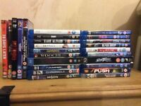 Various Blu Ray and DVD