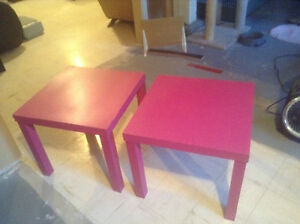 Matching pink end tables