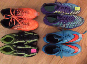 Nike and Rawlings Soccer Shoes