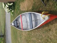 15 foot tripper fiberglass canoe
