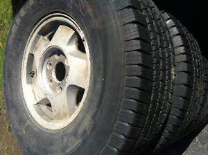 1992 chevy aluminum 4 x 4 wheels and tires