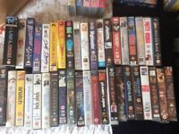 Job lot of 40 top quality films on VHS
