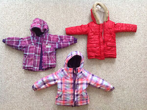 Girls winter coats, jackets, and  snow pants