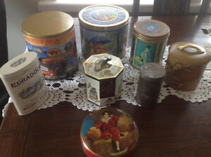 "ASSORTED ""LOT"" of VINTAGE & COLLECTIBLE TINS (8 tins)"