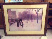 Victorian winter scene reprint
