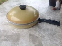 Vintage club cast iron frying pan with lid