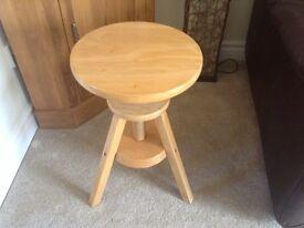 Adjustable pine stool