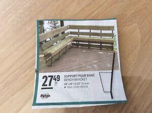 support pour banc patio