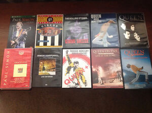 Concert dvd's like new- all generations -old and new artists