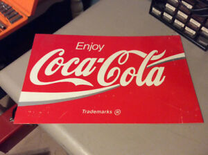 Vintage Coca Cola Two Sided Plastic Sign