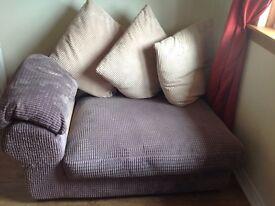 Strand grey chord sofa