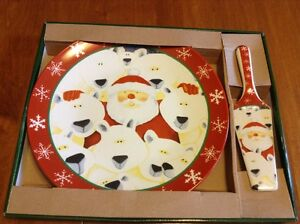 Santa Serving Plate w/Serving Lifter