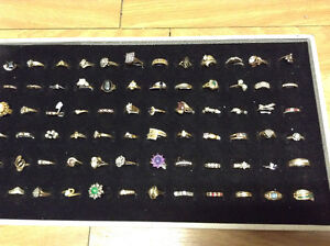 RINGS Karat Gold 10k 14k 18k some with diamonds & gems $100 +up