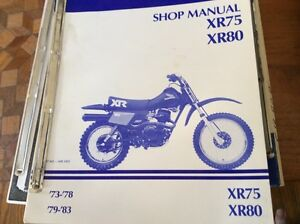 Honda XR75 XR80 Shop Manual Regina Regina Area image 1