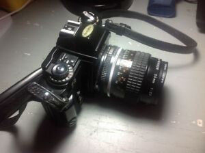 Nikon fg with 55mm f2.8 ais mf micro lens