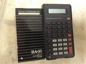 Texas Instruments Business Calculator BA-35