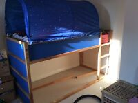 Mid sleeper frame with tent