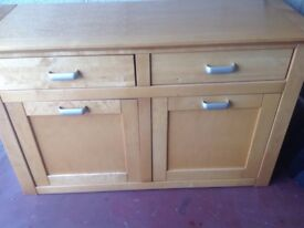 Solid wooden sideboard display cabinet