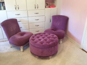 Girls Bombay Chairs and Ottoman