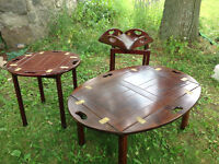 Small serving and coffee tables