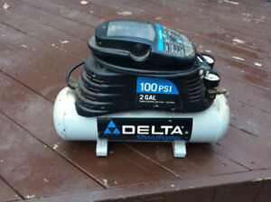 2 gallon delta 100psi  air compressor