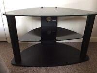 Black glass TV unit. £15