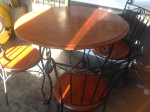 Cast iron table and chairs (matching)