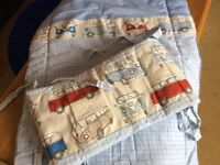 Baby bedding - VW bumper and crib quilt