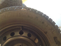 WINTER TIRES AND RIMS - Only one season of usage