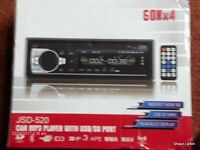 Car Stereo.sd card Port, usb Port, built in Bluetooth, Remote Control.