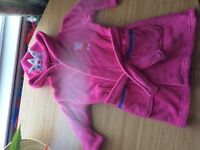 Peppa pig bath robe size 2-3years