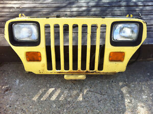 Jeep Wrangler YJ - front grill with all lights and wiring