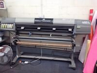 HP DESIGNJET 5000 wide large format printer, running uv ink.