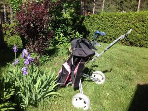 Sac de golf pour femmes droitières, avec chariot et batons