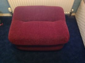 Red burgundy wine colour pouffe