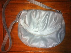 Grey Leather Pleather Purse Bag Fashion Accessory Winter Look