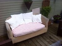 Lovely wicker conservatory sofa