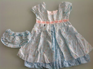 Beautiful Designer Kenzo dress and matching underwear for 2-3y