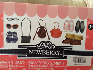 "NEWBERRY 18"" DOLL GLASSES HANDBAGS SHOES BOOTS SANDALS Etc"