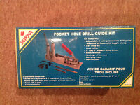 Pocket hole drill guide kit.