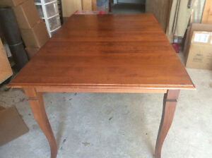 Large extendable mohagony dining room table $85.00