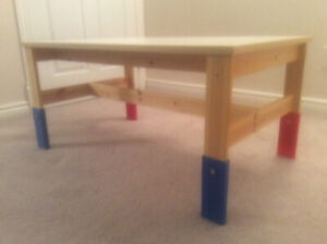Children's table and chairs (IKEA SANSAD table/KRITTERS chairs)